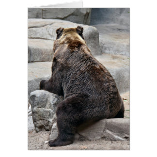 Grizzly Birthday Bear Card