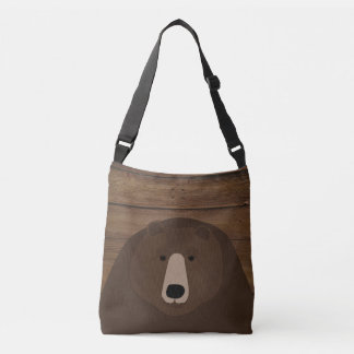 Grizzly Custom All-Over-Print Cross Body Tote Bag