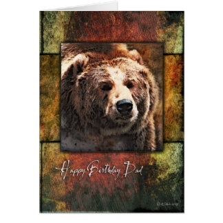Grizzly Framed-BD Dad Card