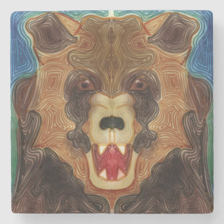 Grizzly Growl Stone Coaster