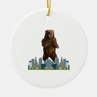 Grizzly Launch Ceramic Ornament