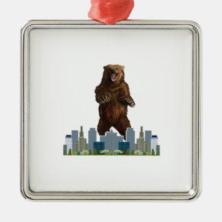 Grizzly Launch Metal Ornament