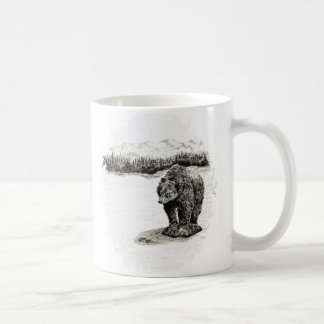 Grizzly on rock  Mug