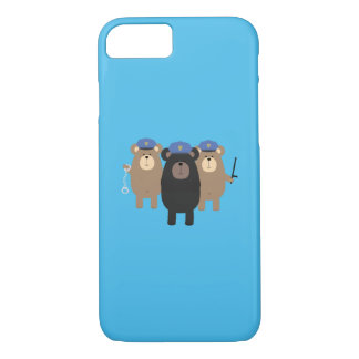 Grizzly Police Officer Squad Q1Q iPhone 8/7 Case