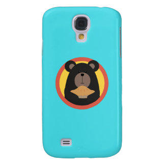 Grizzly with cake in circle Q1Q Samsung Galaxy S4 Case