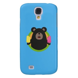 Grizzly with two Popsicle Q1Q Samsung Galaxy S4 Covers
