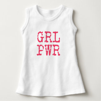 GRL PWR (girlpower) - PINK Baby dress