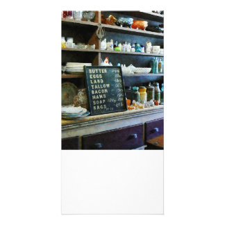 Groceries in General Store Personalized Photo Card