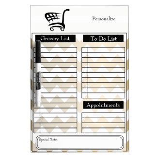 Grocery and To Do List Dry Erase Board