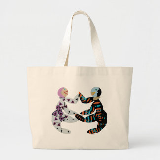 """""""grocery bags"""" large tote bag"""