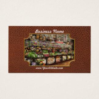 Grocery - Edward Neumann The produce section 1905 Business Card