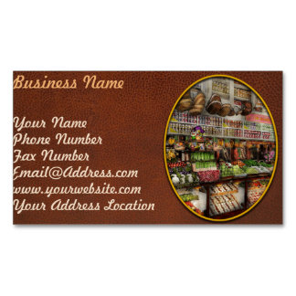 Grocery - Edward Neumann The produce section 1905 Magnetic Business Cards
