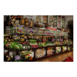 Grocery - Edward Neumann The produce section 1905 Poster