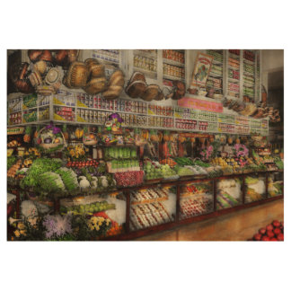 Grocery - Edward Neumann The produce section 1905 Wood Poster