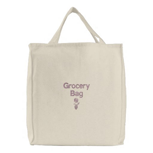 Grocery - Embroidered Bag