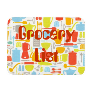 Grocery List Kitchen Items Magnet Personalized
