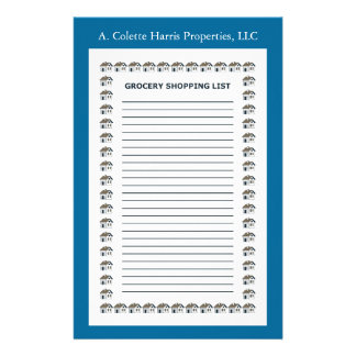 Grocery Note Pad- Design 2 Stationery Design