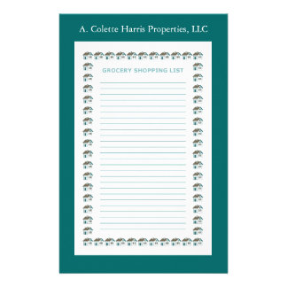Grocery Note Pad- Design 3 Stationery Paper