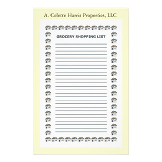 Grocery Note Pad- Design 4 Stationery