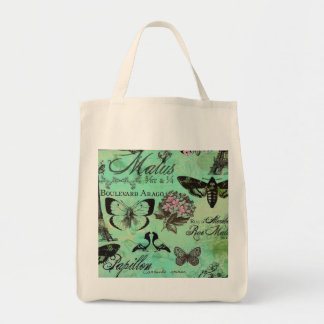 Grocery Reuseable Tote Jade French Garden Bag