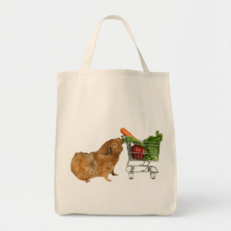 Grocery Shopping Guinea Pig Grocery Tote Bag