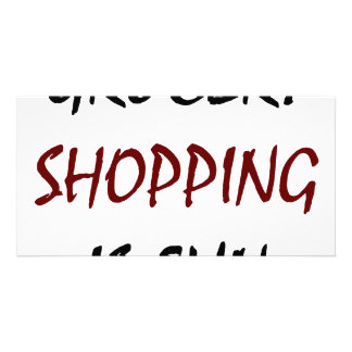 Grocery Shopping Is Fun Photo Card Template