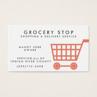 Grocery Shopping Service Business Card