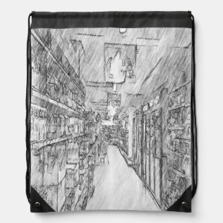 grocery store drawstring bags