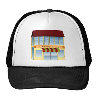 Grocery Store Building Icon Trucker Hat