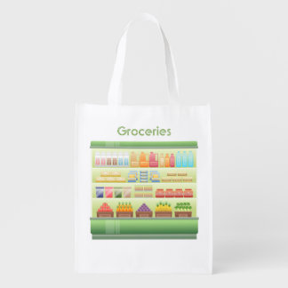Grocery Store Cooler Reusable Grocery Bags