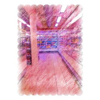 grocery store 13 cm x 18 cm invitation card