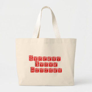Grocery Store Manager Jumbo Tote Bag