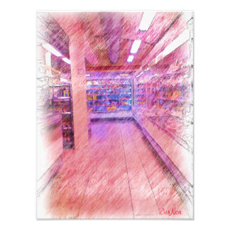 grocery store photo print