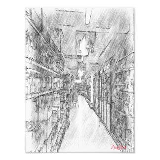 grocery store photo art
