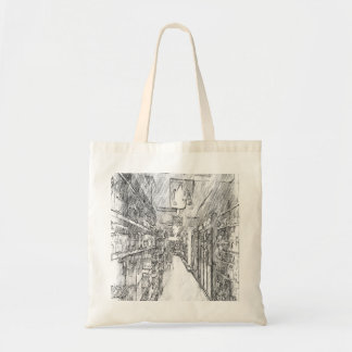 grocery store budget tote bag