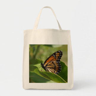 Grocery Tote Bag Monarch Butterfly
