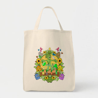 Grocery Tote Bag Munchi Power! Seed Garden