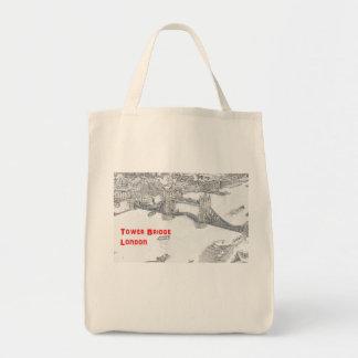 Grocery Tote Bag - Tower Bridge