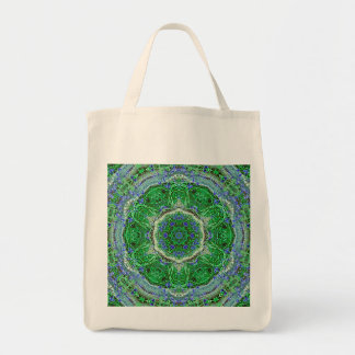 Grocery Tote Bag Wild Flower Pattern