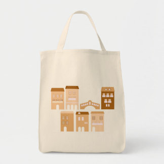 """Grocery tote bag with """"Italia"""" theme"""