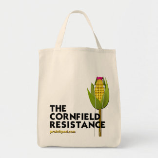 Grocery Tote (Clear) - The Cornfield Resistance