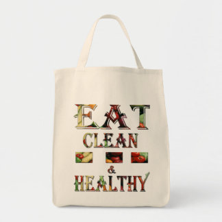 Grocery Tote-Eat clean and healthy Bags