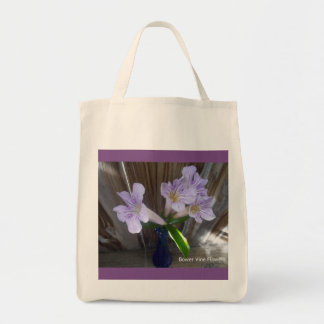 Grocery Tote floral design