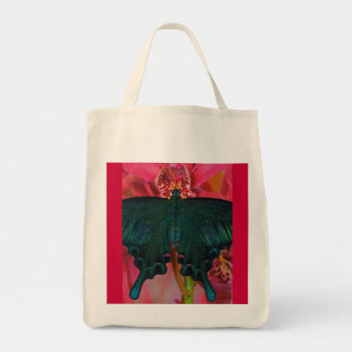 Grocery Tote Reuseable Wild Butterfly Canvas Bag