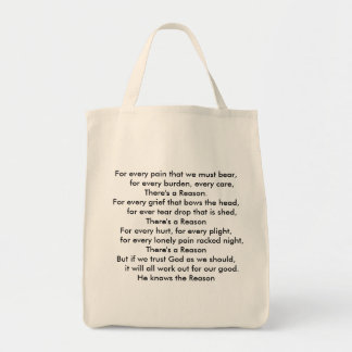 Grocery Tote with Beautiful Poem