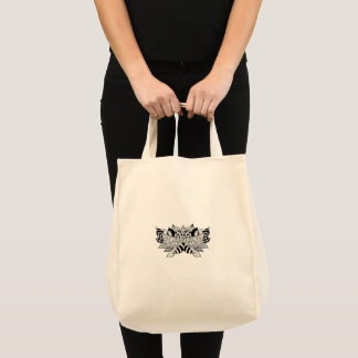 Grocery tote with lotus design