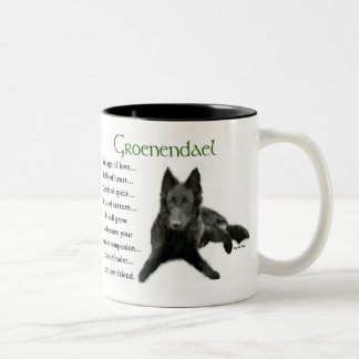 Groenendael Belgian Sheepdog Gifts Two-Tone Coffee Mug