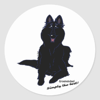 Groenendael - Simply the best! Round Sticker