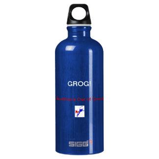 GROG! Blue Metal Bottle. Politically Subtle Water Bottle