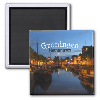 Groningen Netherlands Night Scene Fridge Magnet